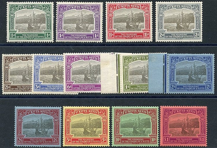 1923 Tercentenary set, fresh M, SG.48/60 (13) Cat. £1200