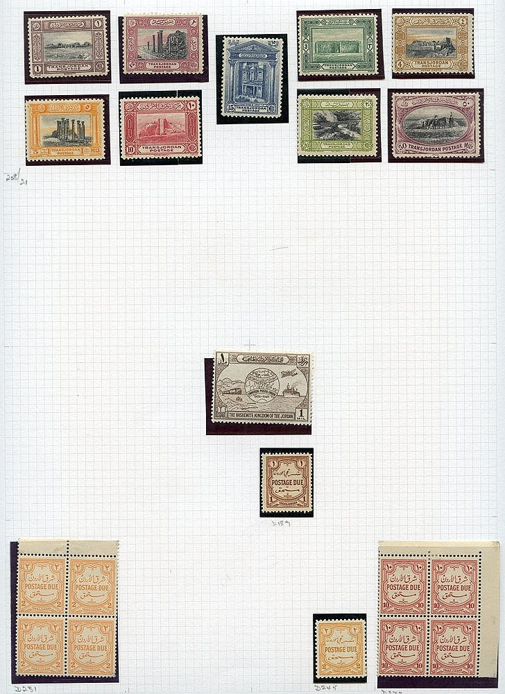 Collection on leaves with a range of EEF issues, 1927-44 vals to