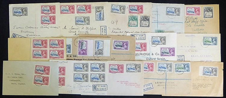 1935 mixed group of franked commercial & philatelic covers, mixed