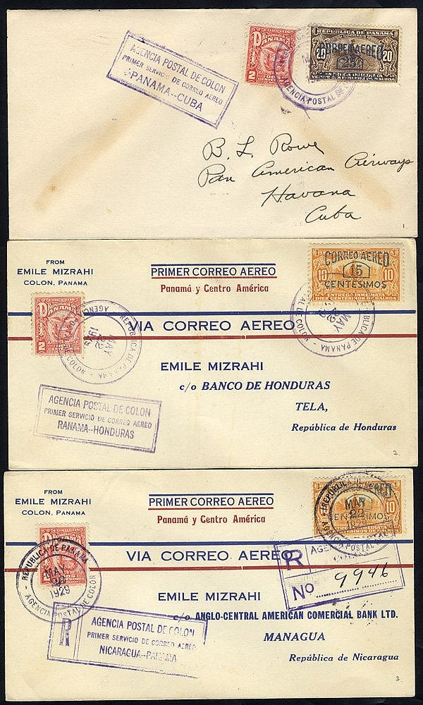 1929 first flight covers, PAA FAM 5 Colon/Havana (125 flown), ano