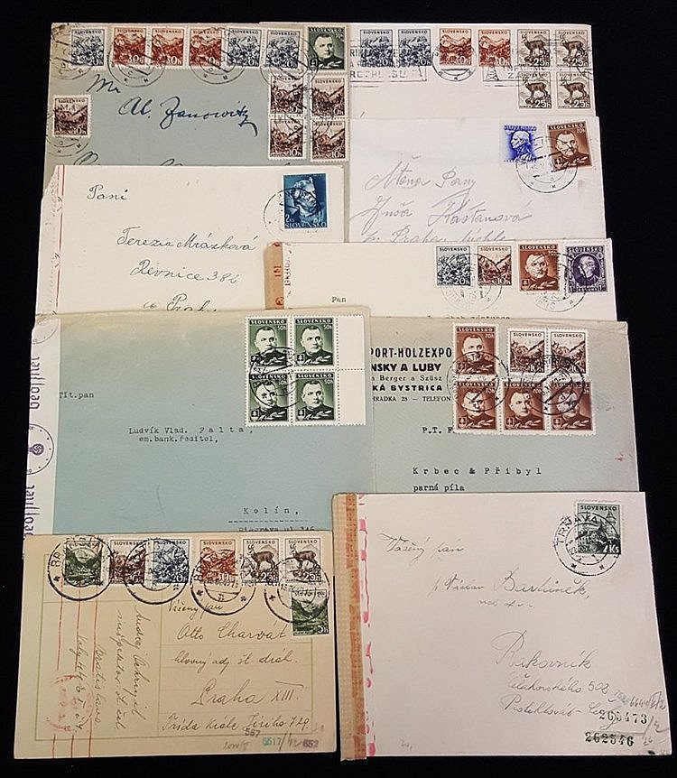 1940-44 group of covers etc, most to Prague with German censorshi
