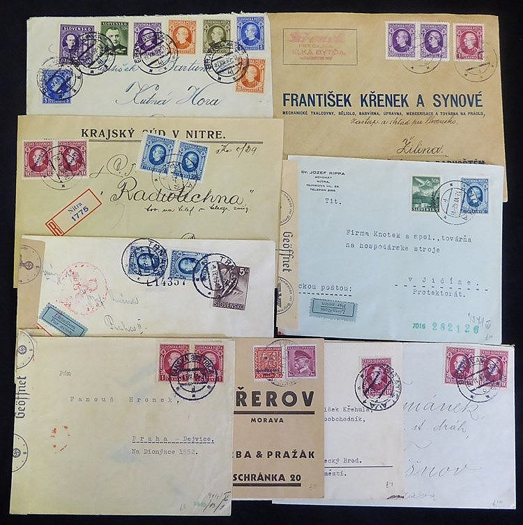 1939-42 covers incl. early overprints, a range of frankings & air