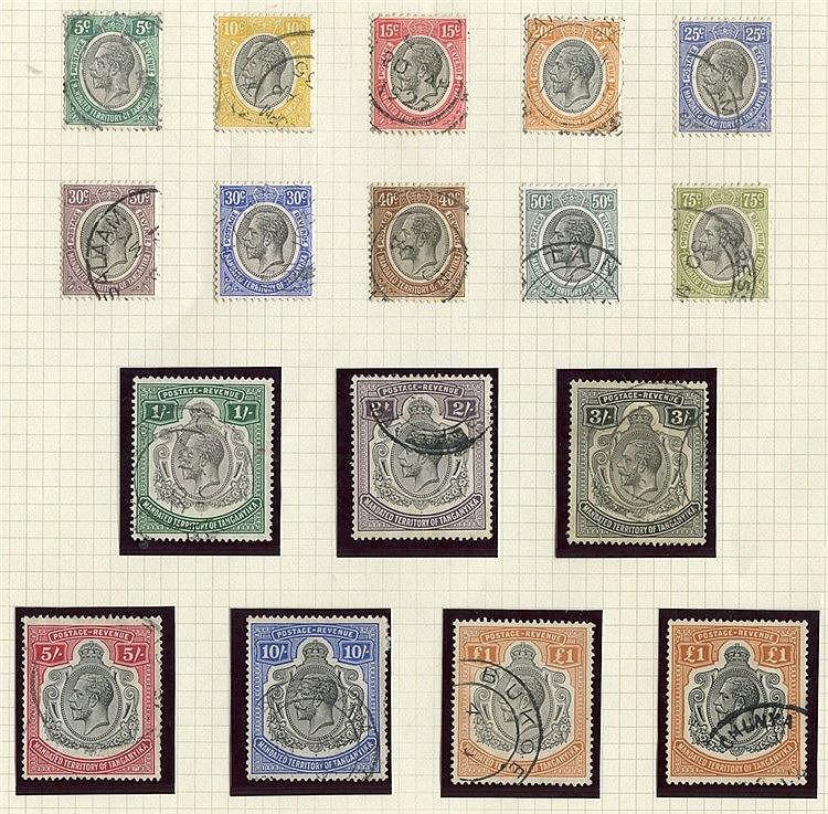 1927-31 5c to £1 (2 shades), FU, SG.93/107, Cat. £1125.