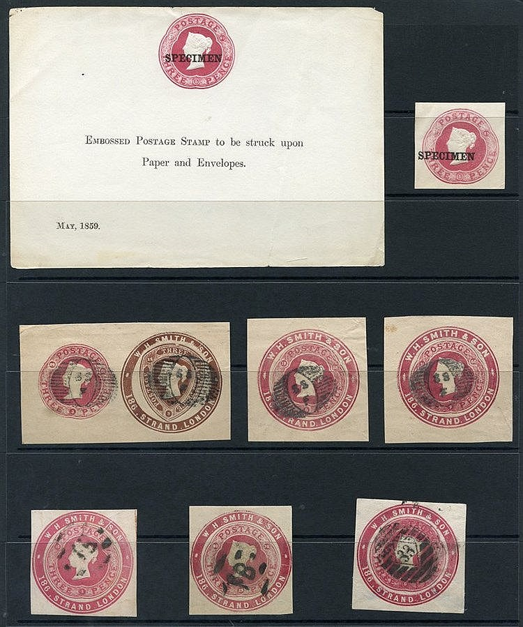 QV 3d dies selection of 28 x 3d dies incl. 1859 SPECIMEN sheet us