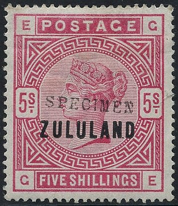 1888-93 ½d to 5s set of eleven (2½d in a pair), each h/stamped 'S