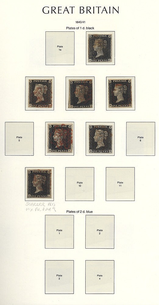 1840-1970 COLLECTION housed in a Lighthouse hingeless album with