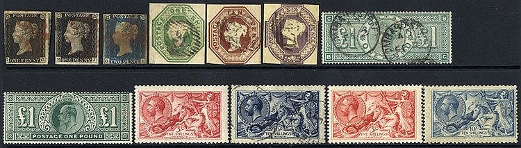 1840-1989 COLLECTION of M & U housed on A4 pages in protective sl