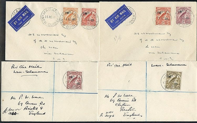 Airmails: 1931 (Aug. 14) cover from Madang to Wau bearing 1931 Ai