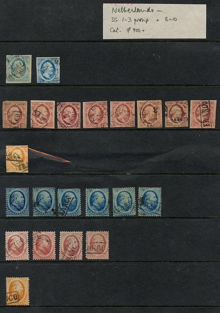 1852-63 5c blue (2), 10c carmine (8) & 15c, 1864 5c (6), 10c (4)