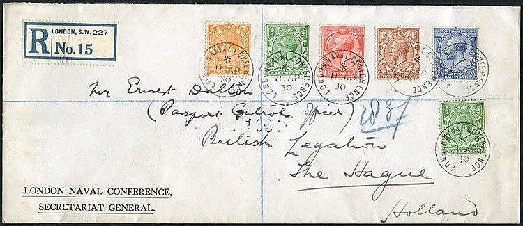HOLLAND 1930 reg envelope from the London Naval Conference Secret
