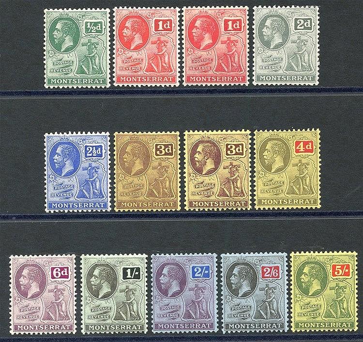 1916-22 MCCA set + extra 1d & 3d shades, fine M, SG.49/59. (13) C
