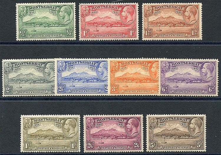 1932 Settlement set M, SG.84/93. (10) Cat. £160