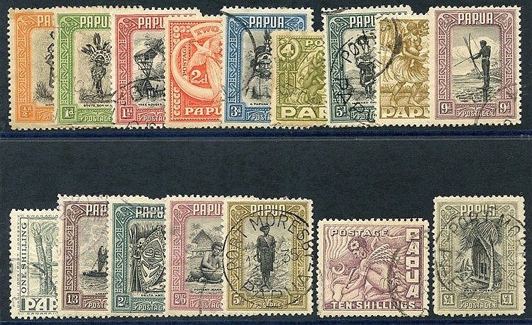 1932 Pictorial set complete FU, SG.130/145. (16) Cat. £450