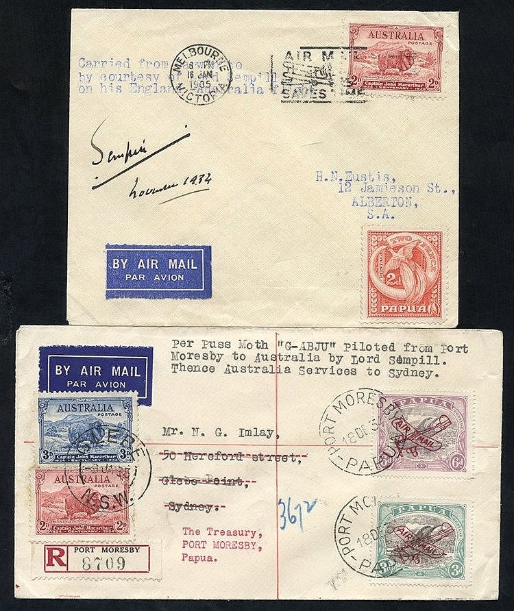 1934 (Dec 19) Port Moresby-Cairns and thence to Sydney, flown reg
