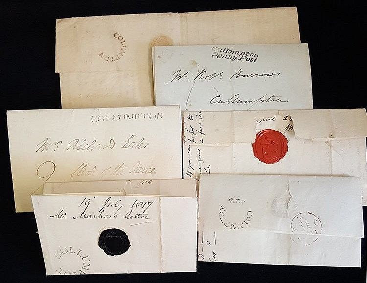 DEVON QV-QEII postal history accumulation, noted useful Cullompto
