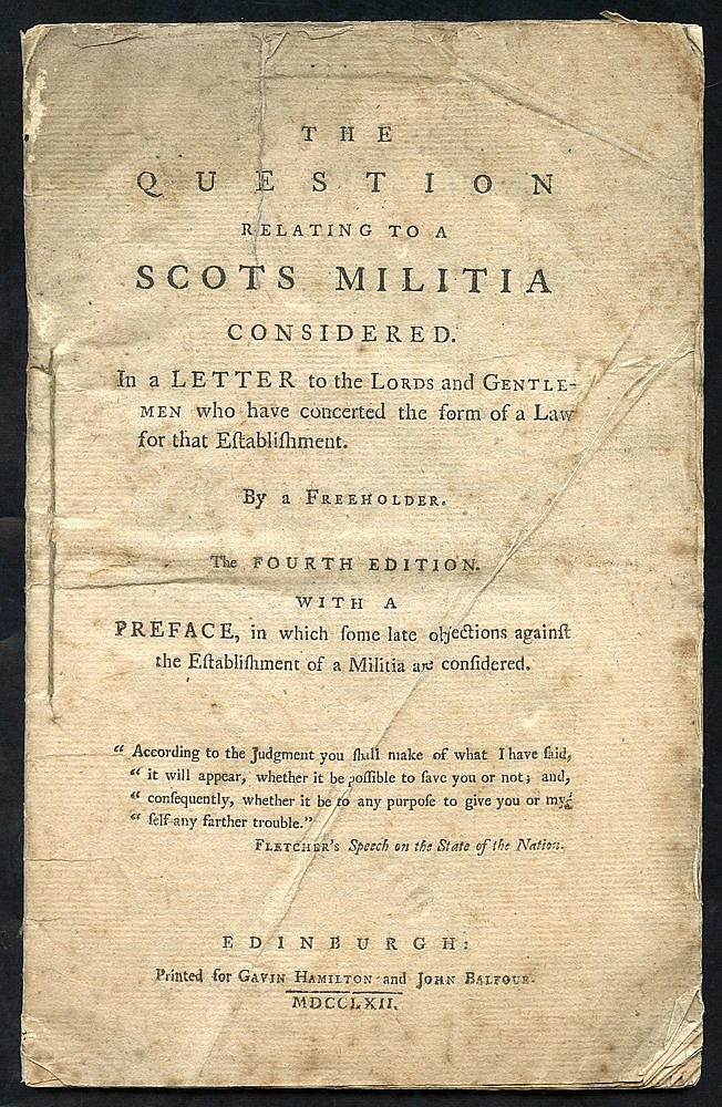 1762 36 Page pamphlet