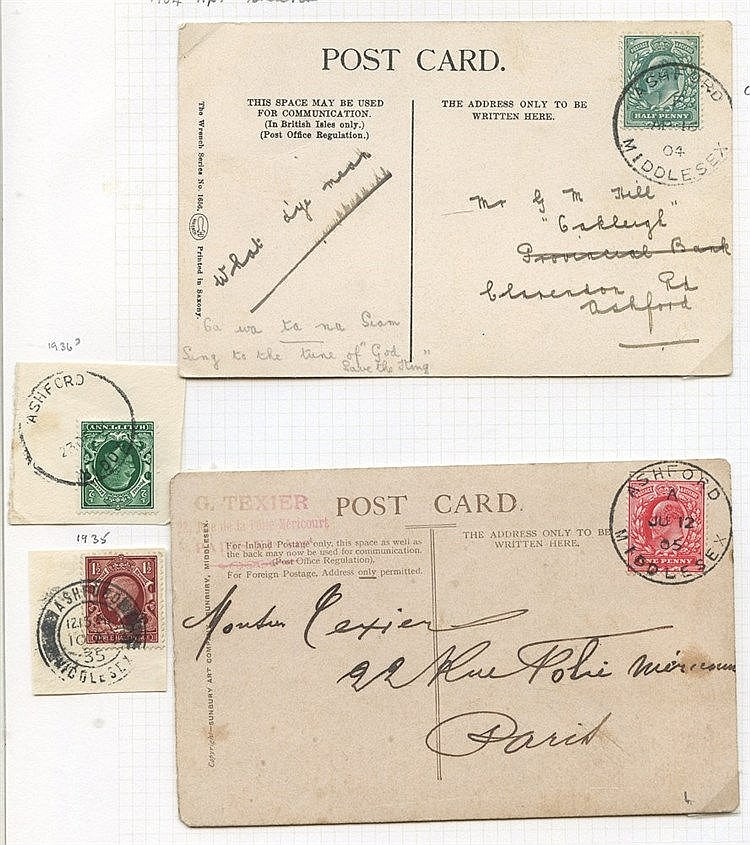 MIDDLESEX (Ashford) 1881-1963 covers & cards (21), parcel post la