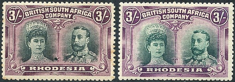 1910-13 3s Double Heads, SG.158 (a few minor tones) & RSC 'A,' fi