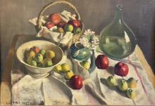 PIERRE JOUFFROY (1912-?) - > NATURE MORTE AUX FRUITS, 1935