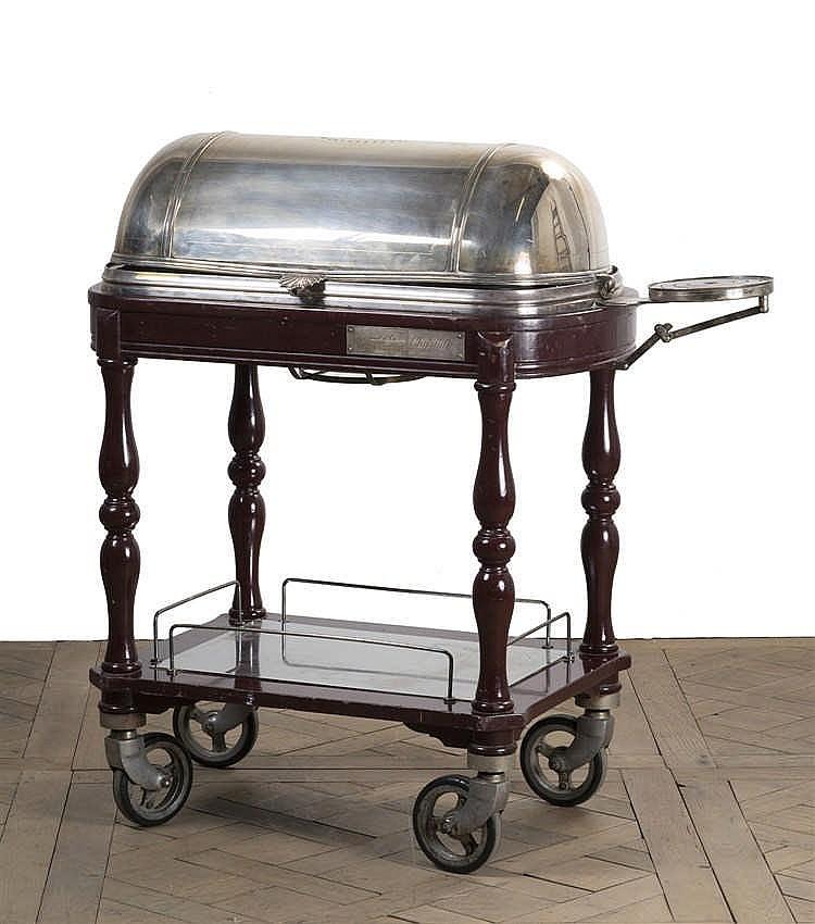 table a decouper en bronze argent et pi tement en bois tour. Black Bedroom Furniture Sets. Home Design Ideas
