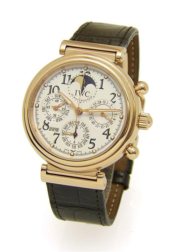 IWC. Chronographe DA Vinci signé international Watch Company en or r