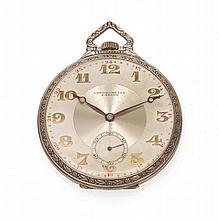 Montre SABINA Chronomètre en argent massif avec chiffres arabes appli