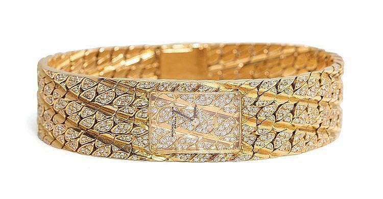 VACHERON CONSTANTIN - Rare montre joaillerie tressé Diamants pour Mel