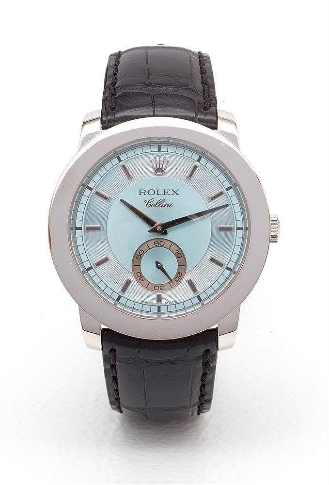 ROLEX Cellini - Montre Rolex Cellini Réf. 5241/6 boitier rond en plat