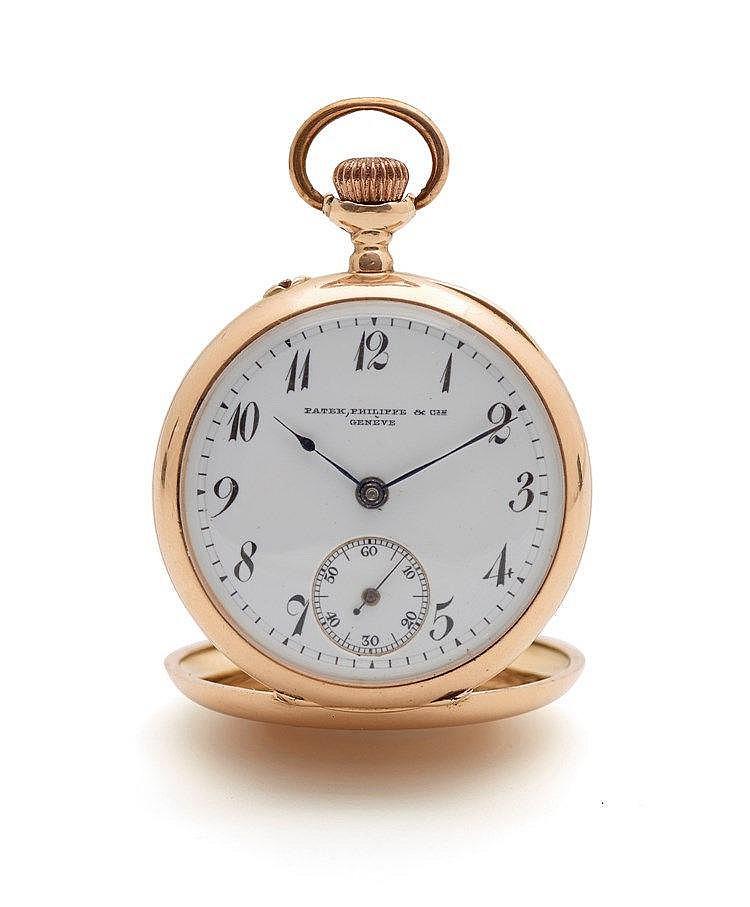 Patek philippe - Petite montre à gousset en or jaune 750 millième sig