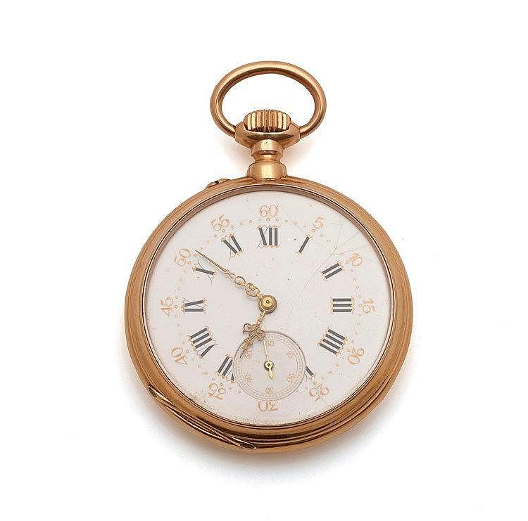 ANONYME - Montre de poche en or 18 K (750 millième), n° série: 102540