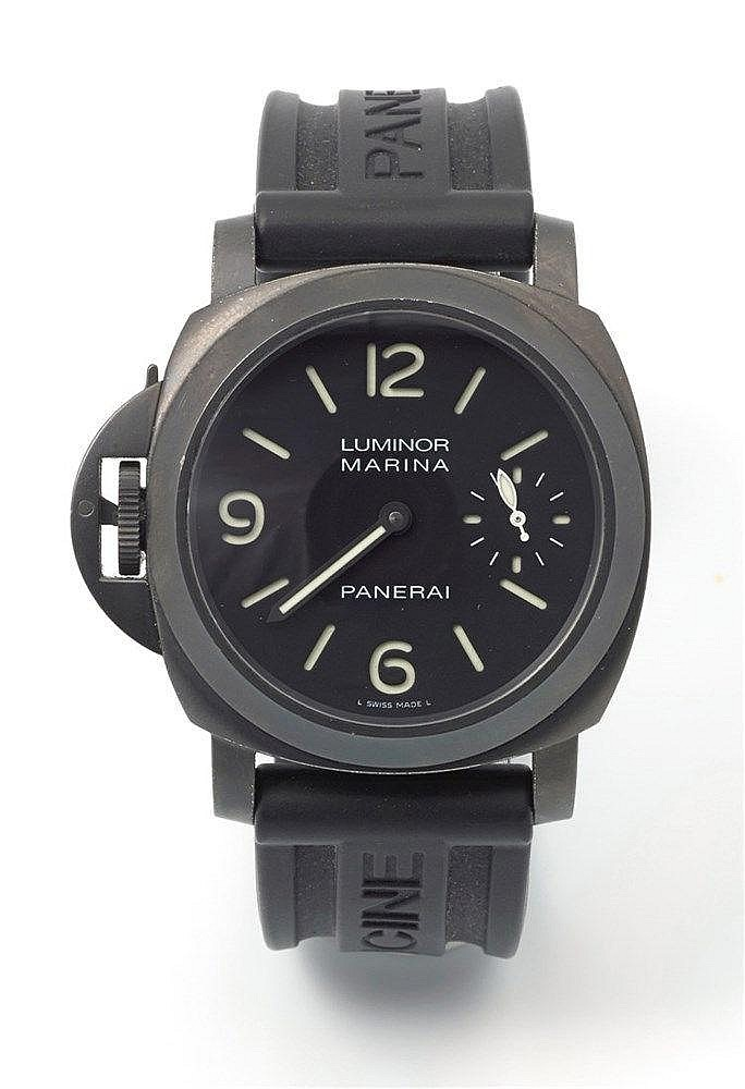PANERAI - Montre de gaucher dite Luminor Left Hand en PVD noir, modèl