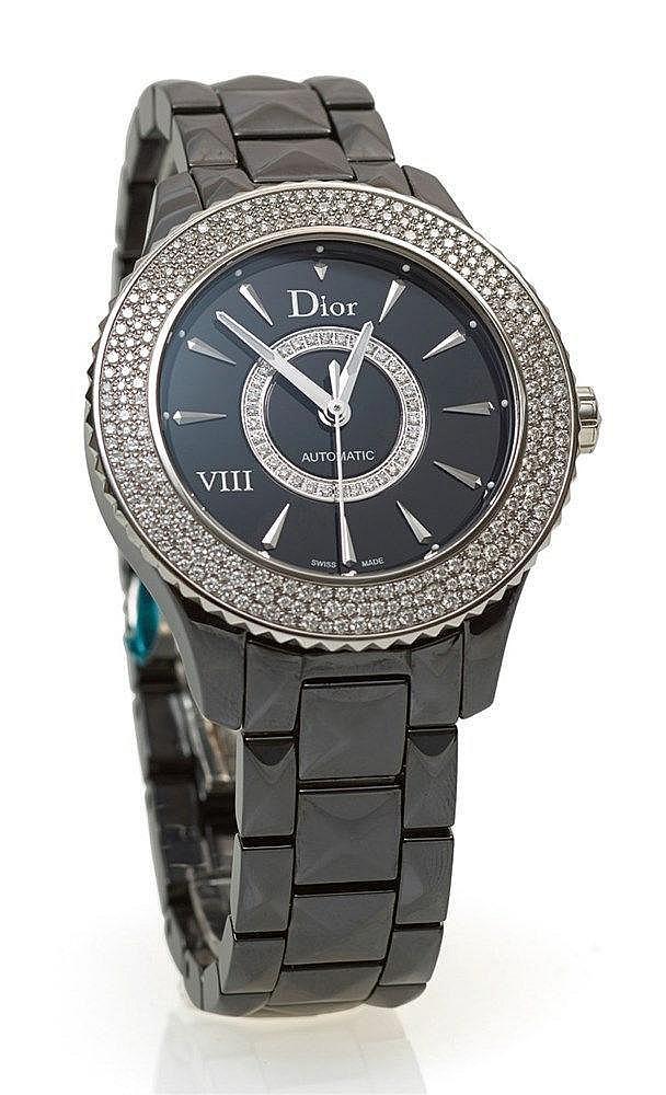 DIOR - Montre Dior VIII en céramique noir réf. CD1245E2COO, lunette