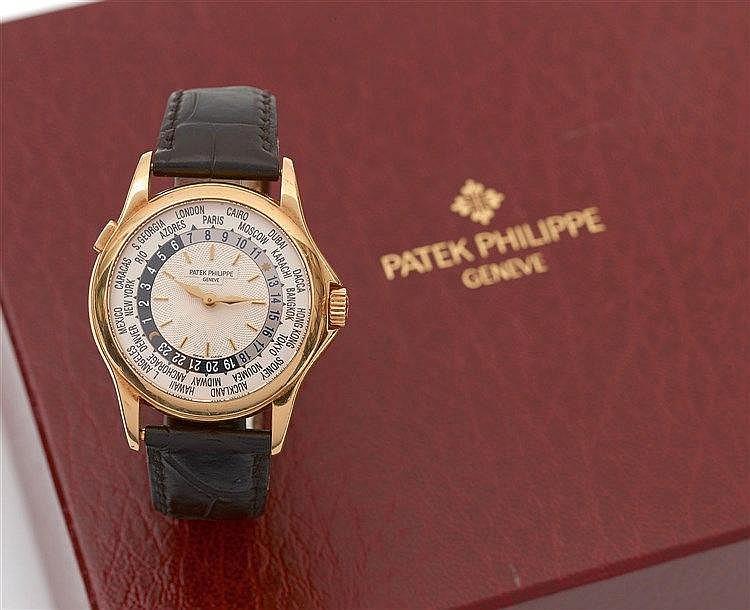 PATEK PHILIPPE - Montre signée Patek Philippe modèle Worldtime réf.