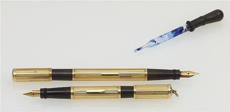 Parure toi et moi - WATERMAN 542 1/2 stylo plume d'homme mécanisme re