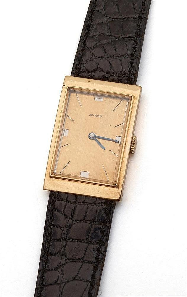 MELLERIO dits MELLER - Montre bracelet d'homme de forme rectangulaire