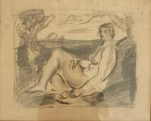LOUIS LATAPIE (1891-1972) - NU ASSIS