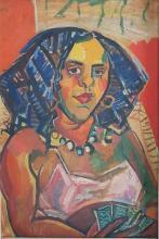 LOUIS LATAPIE (1891-1972) - JOUEUSE DE CARTE