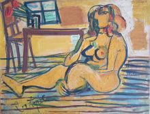 LOUIS LATAPIE (1891-1972) - NUE ASSISE