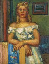 LOUIS LATAPIE (1891-1972) - PORTRAIT DE RENEE, 1941