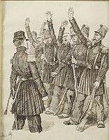 Charles Henri PILLE - Soldats saluant leur