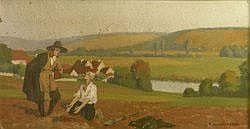Pierre LADUREAU - Le Laboureur et ses enfants