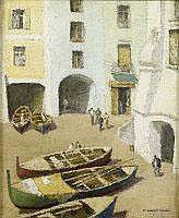 Pierre LADUREAU - Barque dans un port