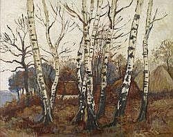 René DEMEURISSE - Vue de la forêt de Villers-