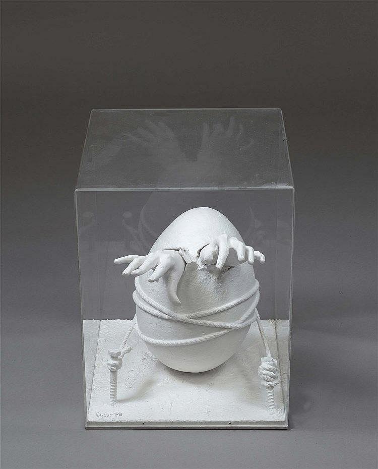 RODOLFO KRASNO (1926-1982) SANS TITRE Technique mixte (plâtre, papier mâché