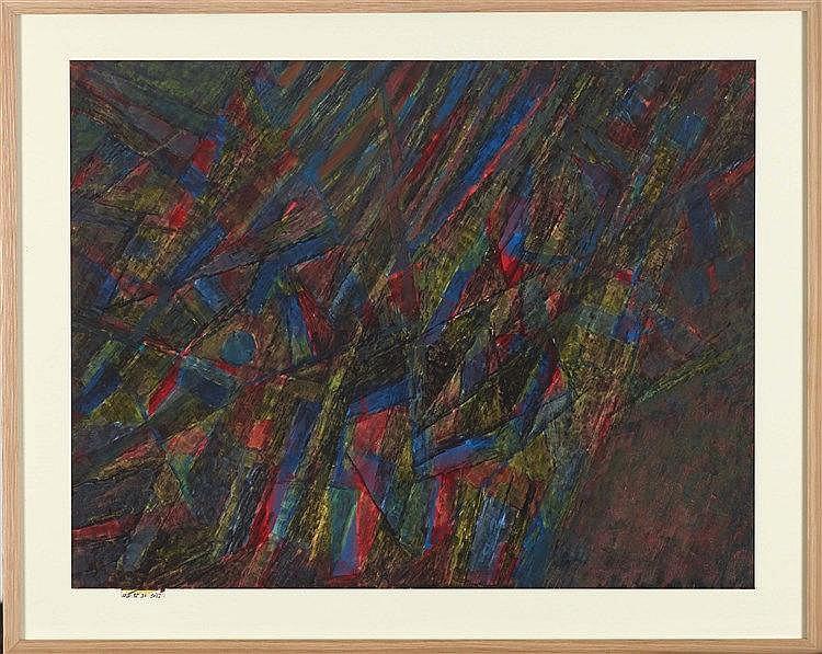 JACQUES GERMAIN (1915-2001) SANS TITRE, 1986 Gouache et encre sur papier Mo