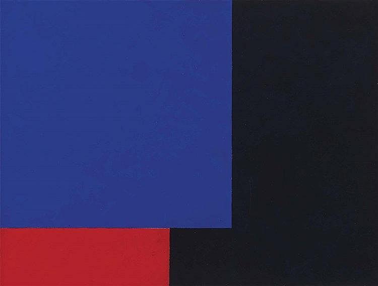 AURELIE NEMOURS (1910-2005) (MARCELLE BARON DITE) BLEU-ROUGE-NOIR, 1981  Go