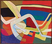 MAURICE ESTEVE (1904-2001) NICHOIR, 1974 Huile sur toile Signée et datée en