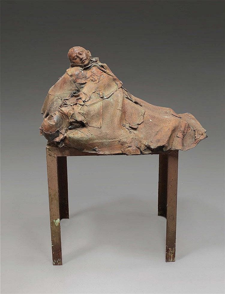 GEORGES JEANCLOS (1933-1997) (GEORGES JEANKELOWITSCH) PIETA, 1984 Bronze à