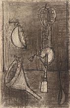 AKBAR PADAMSEE (NE EN 1928) COMPOSITION, 1956 Fusain et mine de plomb sur p