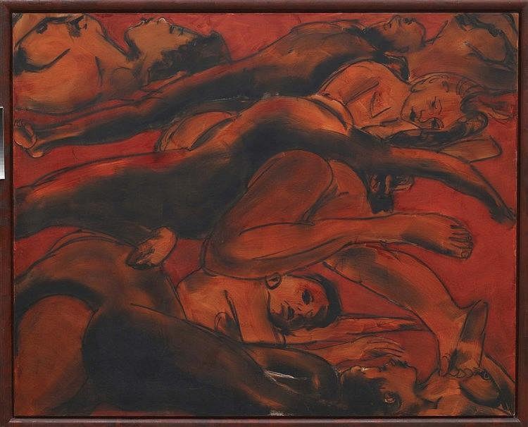 LUCIANO CASTELLI (NE EN 1951) SCHROTTPLATZ 3,1988 Huile sur toile et bois p